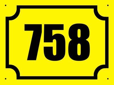 Číslo popisné Vašeho domu či chalupy žlutá